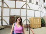 Outside Shakespeare's Globe Theatre in London. Photo credit: James Daniell