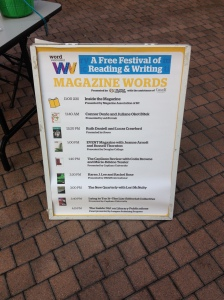 It's always so nice to see your name (spelled correctly!) on a big sandwich board.