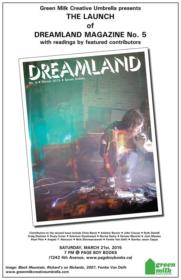 DREAMLAND issue 5 launch poster