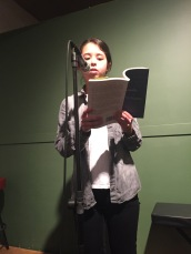 """Laura Ritland closed off the evening with her gorgeous poem, """"Your Body is Growing"""""""