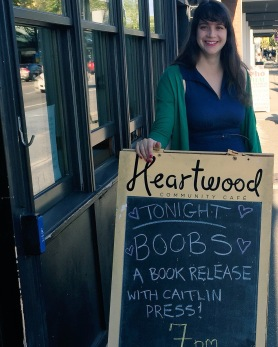 Thanks to Heartwood for hosting the launch of Boobs: Women Explore What it Means to Have Breasts. I was so excited to see our packed house!